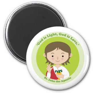 St. John the Apostle 2 Inch Round Magnet