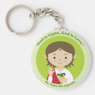 St. John the Apostle Basic Round Button Keychain
