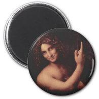 St. John the Baptist 2 Inch Round Magnet