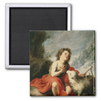 St. John the Baptist as a Child, c.1665 2 Inch Square Magnet