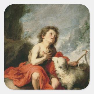 St. John the Baptist as a Child, c.1665 Square Sticker