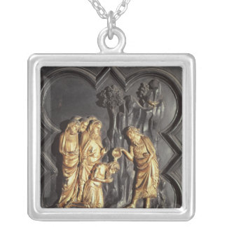 St. John the Baptist baptising in the River Silver Plated Necklace