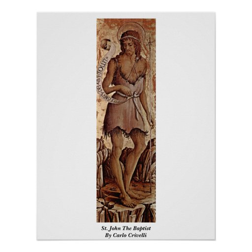 St. John The Baptist By Carlo Crivelli Posters