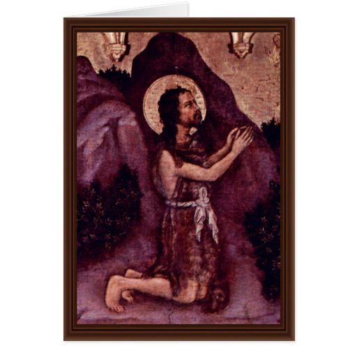 St. John The Baptist By Gentile Da Fabriano Greeting Card