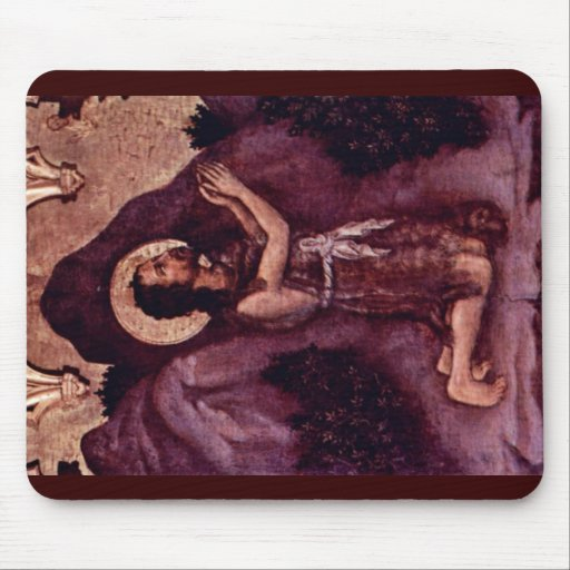 St. John The Baptist By Gentile Da Fabriano Mouse Pad