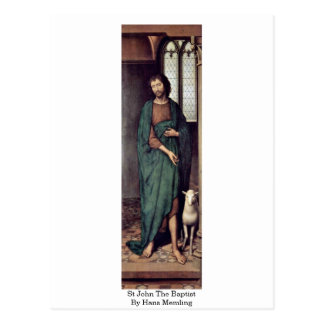St John The Baptist By Hans Memling Postcard