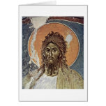 St. John The Baptist By Master Of Gracanica (I) Greeting Card