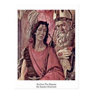 St.John The Baptist By Sandro Botticelli Postcard