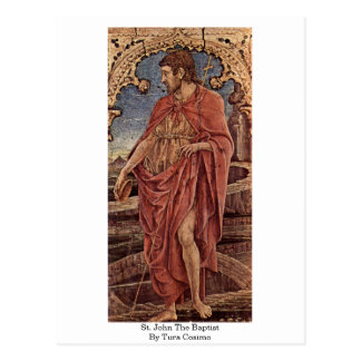 St. John The Baptist By Tura Cosimo Postcard