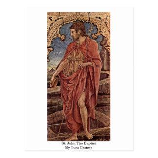 St. John The Baptist By Tura Cosimo Postcard