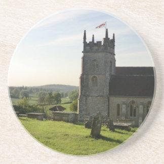 St John the Baptist Church in Horningsham Sandstone Coaster