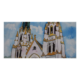 St John the Baptist Church religious christian art Card