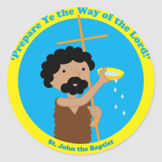 St. John the Baptist Classic Round Sticker