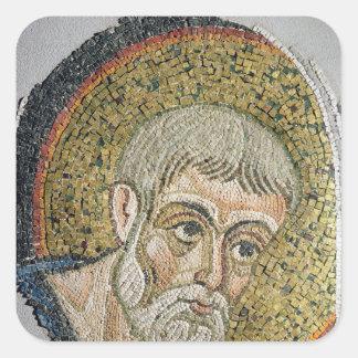 St. John the Baptist: Fragment of a mosaic Square Sticker