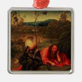 St. John the Baptist in Meditation Metal Ornament