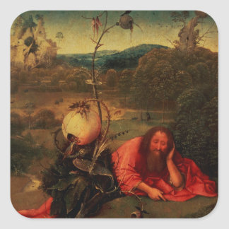 St. John the Baptist in Meditation Square Sticker