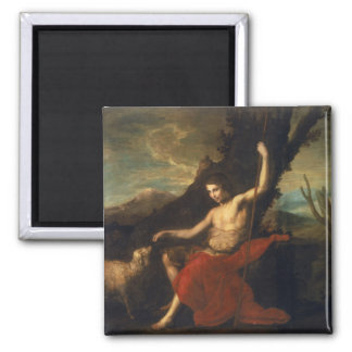 St. John the Baptist in the Wilderness 2 Inch Square Magnet