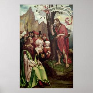 St. John the Baptist Preaching Before Herod Poster