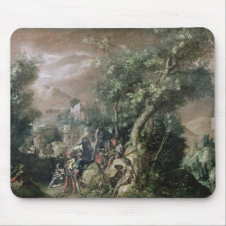 St. John the Baptist Preaching (oil on canvas) Mouse Pad