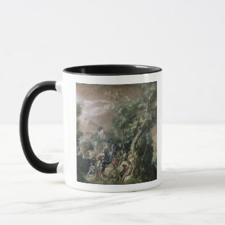 St. John the Baptist Preaching (oil on canvas) Mug