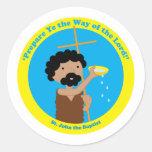 St. John the Baptist Round Sticker