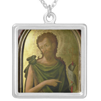 St. John the Baptist Square Pendant Necklace