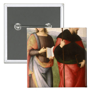 St. John the Evangelist and St. Augustine of 2 Inch Square Button