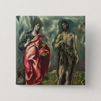 St John the Evangelist and St. John the Baptist Button