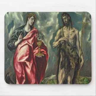 St John the Evangelist and St. John the Baptist Mouse Pad