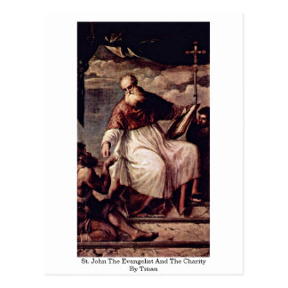 St. John The Evangelist And The Charity By Titian Post Cards