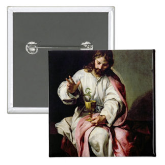 St. John the Evangelist and the Poisoned Cup 2 Inch Square Button