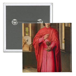 St. John the Evangelist 2 Inch Square Button