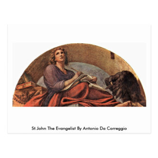 St.John The Evangelist By Antonio Da Correggio Postcard