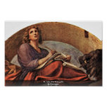 St. John The Evangelist By Correggio Poster