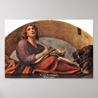 St. John The Evangelist By Correggio Poster