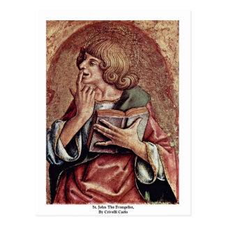 St. John The Evangelist, By Crivelli Carlo Postcards