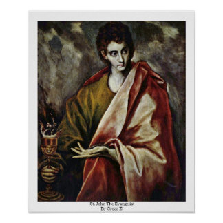 St. John The Evangelist By Greco El Poster