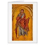 St.John The Evangelist By Master Of Westphalia Greeting Card