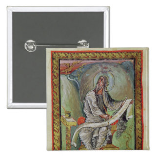 St. John the Evangelist, from the Ebbo Gospels 2 Inch Square Button