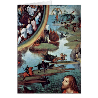 St John The Evangelist In Patmos By Hans Memling Greeting Card