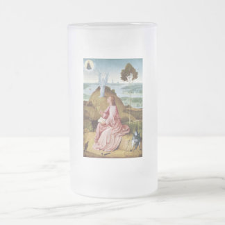 St John the Evangelist on Patmos glass Mug