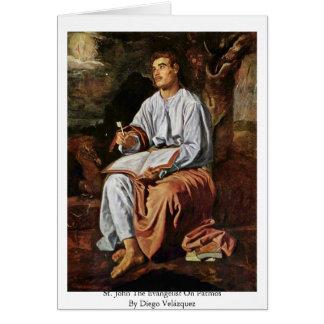 St. John The Evangelist On Patmos' Greeting Card