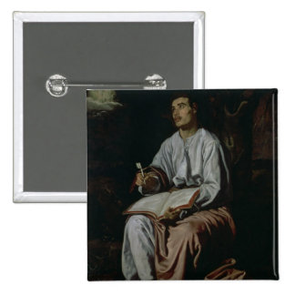 St. John the Evangelist on the Island of 2 Inch Square Button