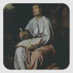 St. John the Evangelist on the Island of Square Sticker
