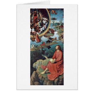 St.John The Evangelist,Patmos By Hans Memling Greeting Card
