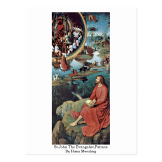 St.John The Evangelist,Patmos By Hans Memling Post Card