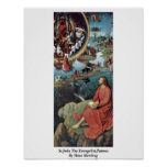St.John The Evangelist,Patmos By Hans Memling Posters