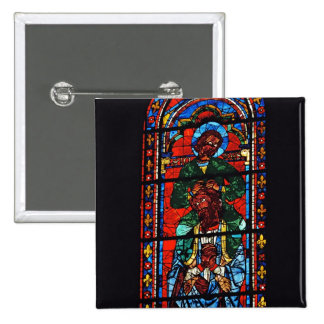 St. John the Evangelist riding the shoulders of Ez 2 Inch Square Button