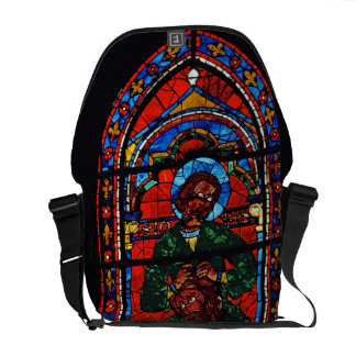 St. John the Evangelist riding the shoulders of Ez Messenger Bag