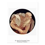 St. John The Evangelist Tondo By Jacopo Pontormo Postcard
